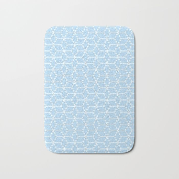 Hive Mind Light Blue 280 Bath Mat By Natural Collective Co