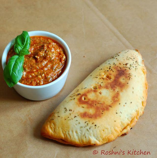 Roshni's Kitchen: Vegan Calzone with Homemade Cashew Tomato Pesto Sauce (Raw Pizza Sauce - can be used in sandwiches, pasta etc)
