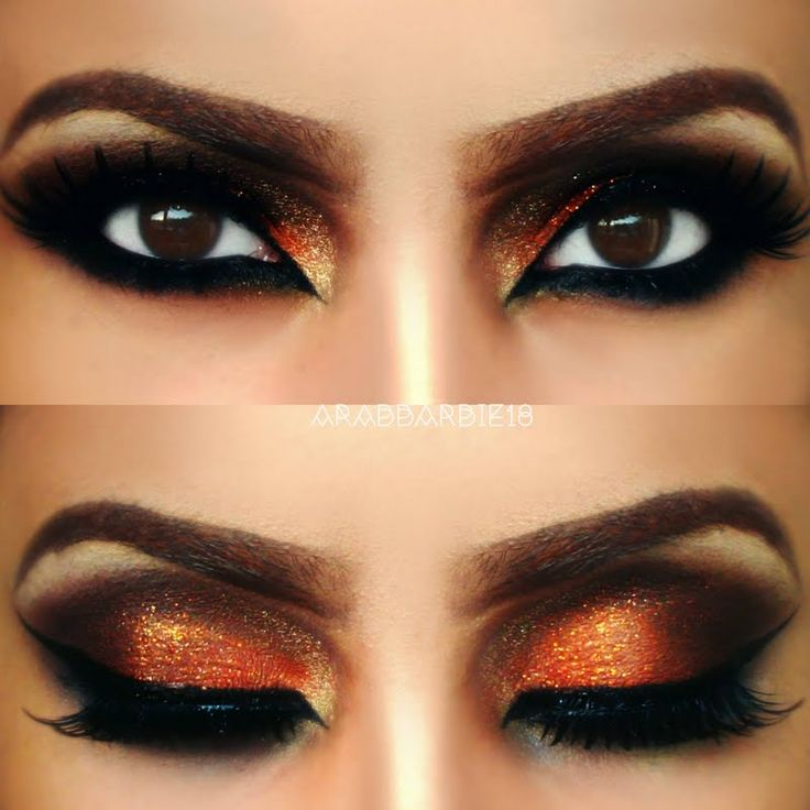 try on this fiery look on your next night out this stunning arabic eye makeup - Eyeshadow For Halloween