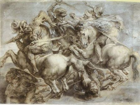 «Битва при Ангиари». Леонардо да Винчи
