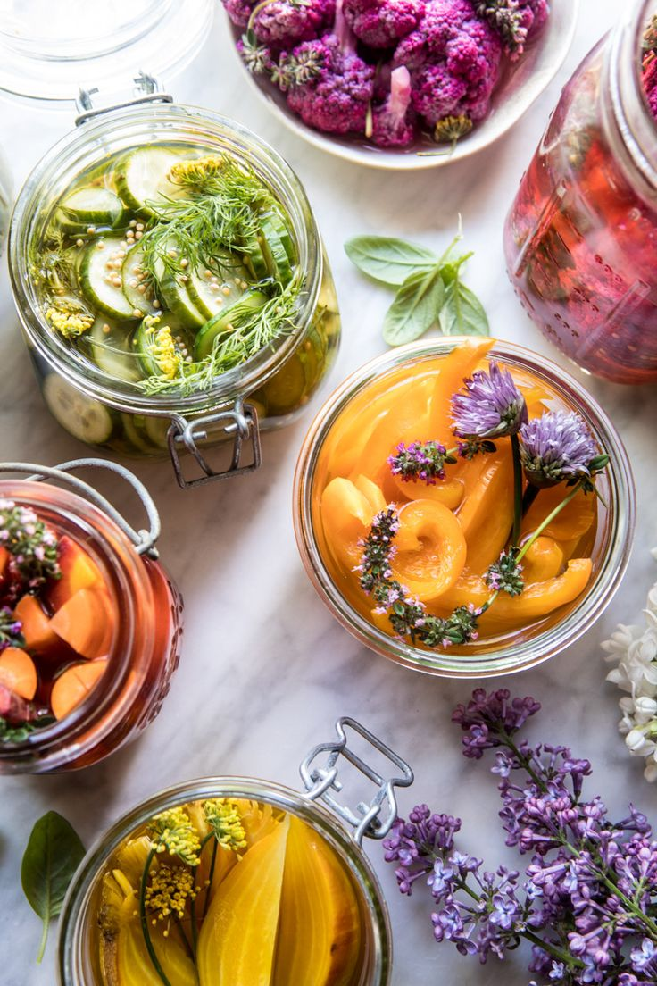 Quick Pickled Veggies - I'm really excited to share this simple, basic recipe that everyone should have on hand this summer! From halfbakedharvest.com