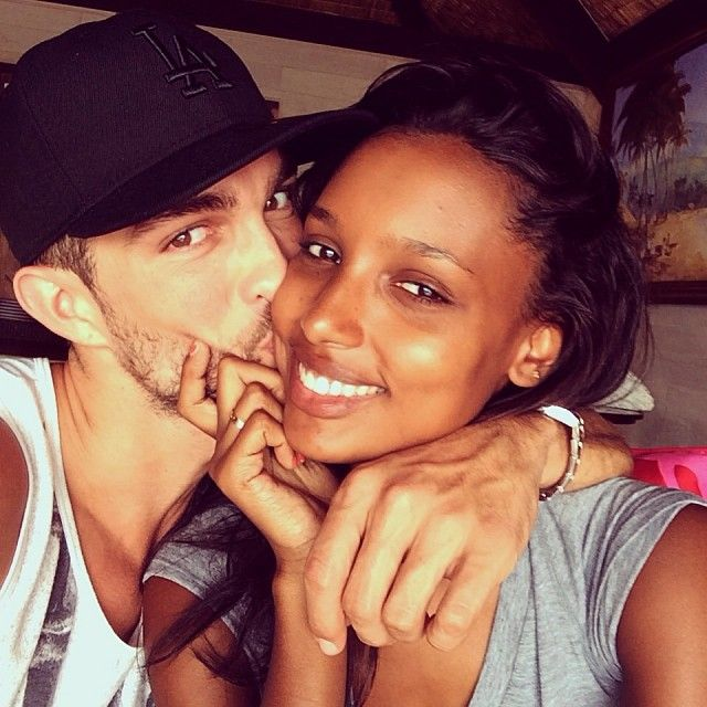 Jasmine Tookes with friendly, Boyfriend Tobias Sorensen