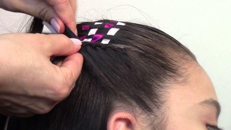 Peinado para nina medio recogido