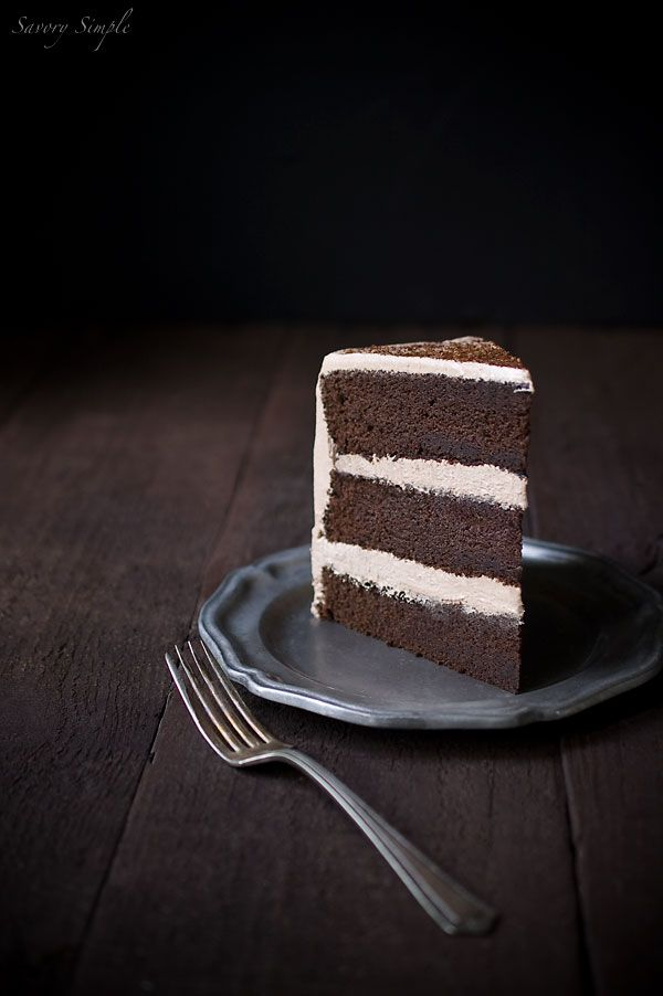Chocolate Espresso Layer Cake Recipe - oh my! Someday I'll have to figure out this recipe gluten-free & sugear-free. Meanwhile.....drool!!