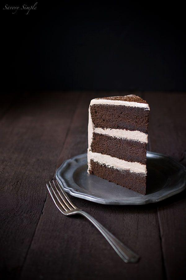 Chocolate Espresso Layer Cake Recipe - Savory Simple
