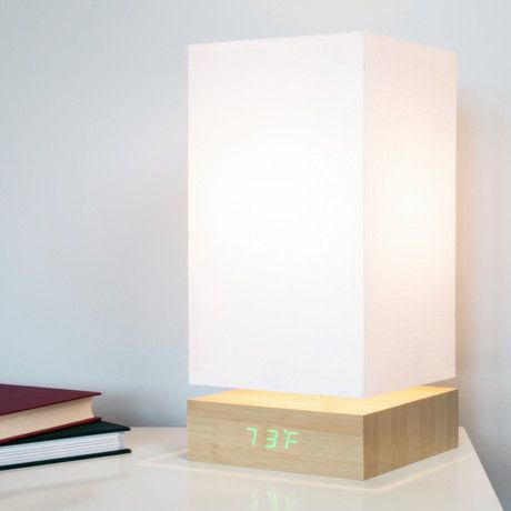 Click Clock Lamp // Green LED // Beech #TouchOfModern