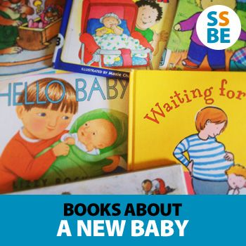 One of the best ways to help transition your older children to a new baby is through books. Click here to read 10 recommended children's books about a new #baby http://sleepingshouldbeeasy.com/2013/02/11/books-new-baby/