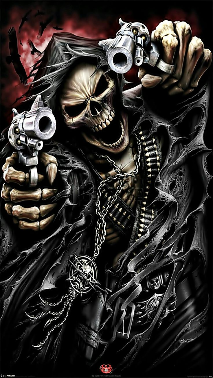97 best skeleton clowns guns animals and scary - Scary skull backgrounds ...