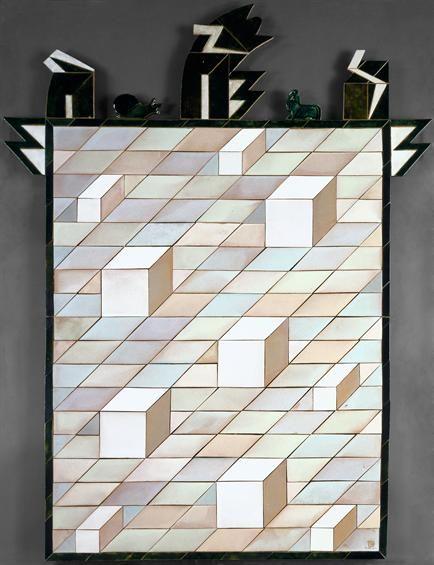 Querubim Lapa | Painel de azulejos enxaquetados | 1991 | MNAz Inv. nº 5977 #Azulejo #QuerubimLapa #MNAz