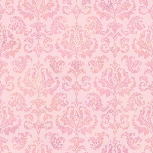 Brewster TOT47143 Svetlana Pink Tiedye Modern Damask Wallpaper, Pink Tiedye Damask