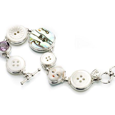 På önskelistan: Silver knappar vintage porslin ametist  av Anna Örnberg