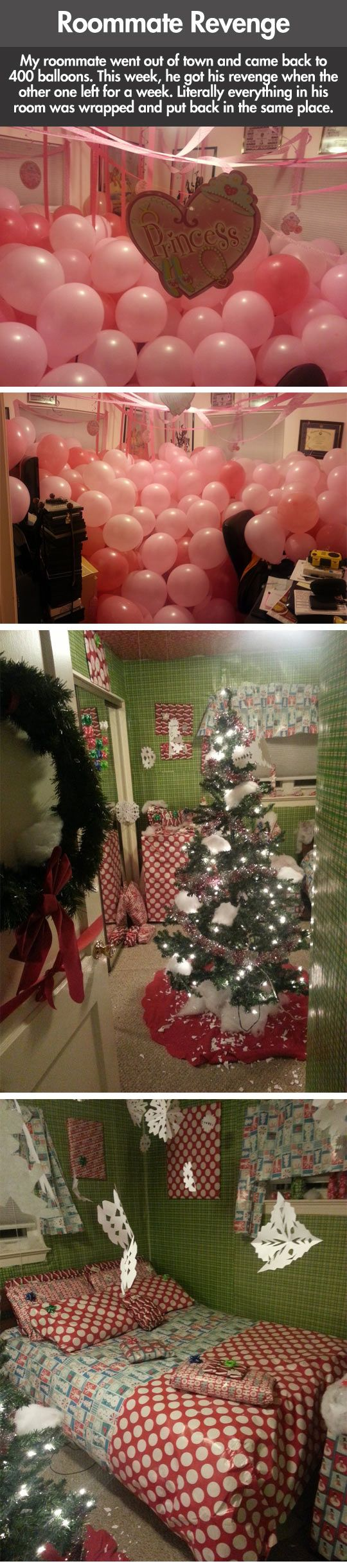 Roommate Revenge… click for more - I wouldn't even mind I'd be like CHRISTMAS