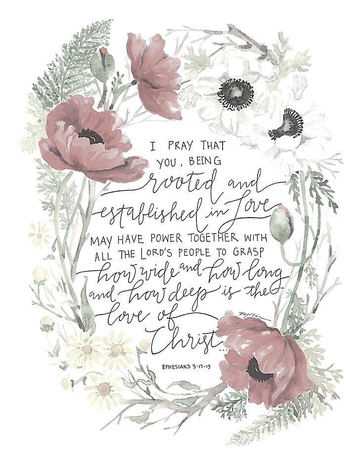 Ephesians 3:17-18♥