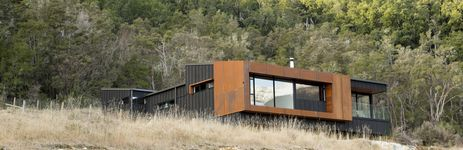 Stunning use of plyand batten and copper cladding