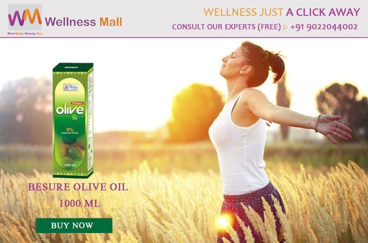BESURE OLIVE OIL 1000 ML- Wellness Mall Visit http://goo.gl/DFdEhQ Tel : 9022044002 Price : ₹1,100.00 Sold by: BESURE HEALTHCARE PVT LTD SKU: 331a12ede1e8. Category: Capsules & Oil