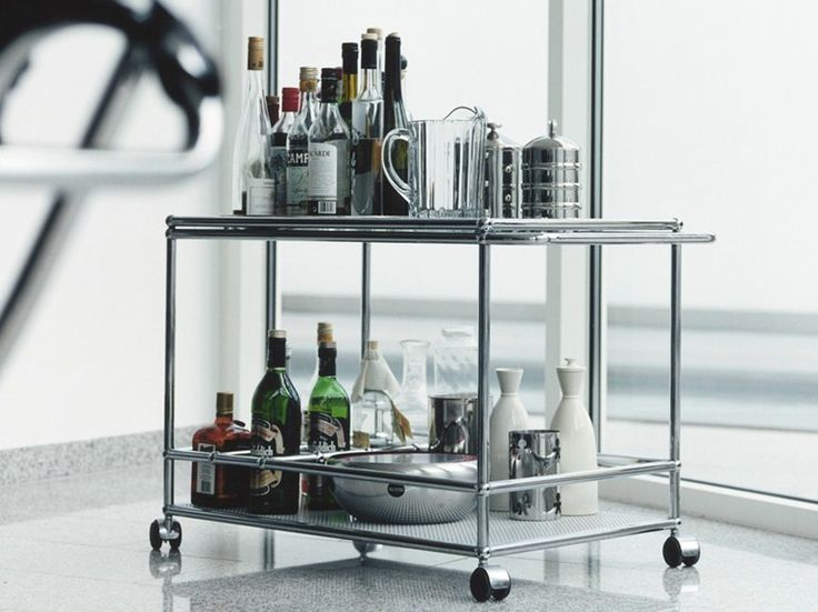 CARRINHO DE METAL PARA BAR USM HALLER SERVING CART FOR DINING ROOM COLEÇÃO USM HALLER BY USM MODULAR FURNITURE | DESIGN FRITZ HALLER