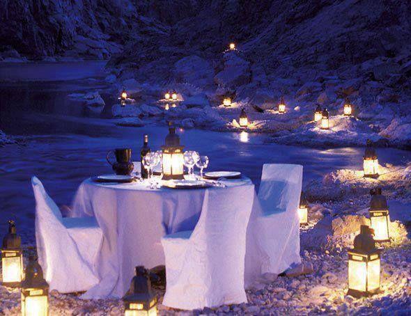 My inner landscape  Romantic Candlelight Dinner