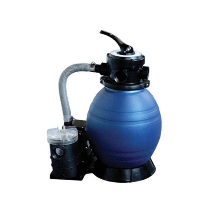 12 Top-Mount Above-Ground Swimming Pool and Spa Sand Filter and .35 HP Pump System, Gray