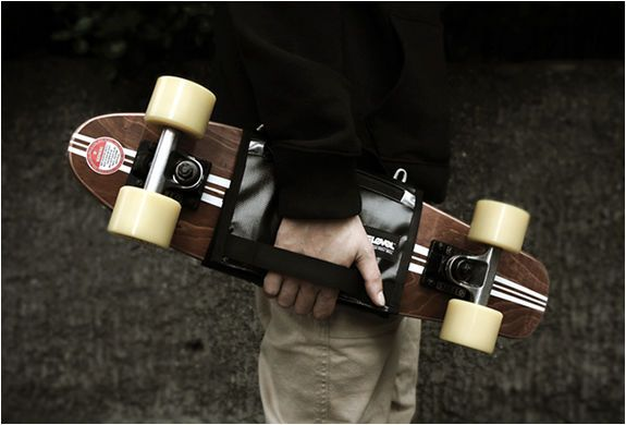 This Bag by T-Level Offers an Easy Way to Carry Your Board Around #skateboards #girly trendhunter.com