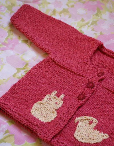 Free Baby Cardi With Duck and Bunny.