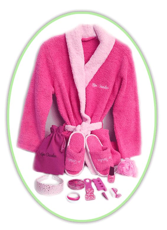 maybe a small party...Pink Spa Mega Party Kit-girls pink slipper,bathrobe favor bag, spa party kits, spa party supplies, girls spa robes, girls spa slippers, spatacular, spa goody bag, spa party favors