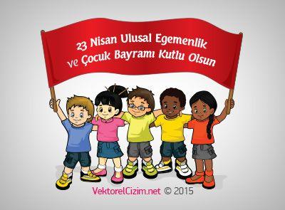 Vektörel Çizim | 23 Nisan Ulusal Egemenlik ve Çocuk Bayramı Pankartı