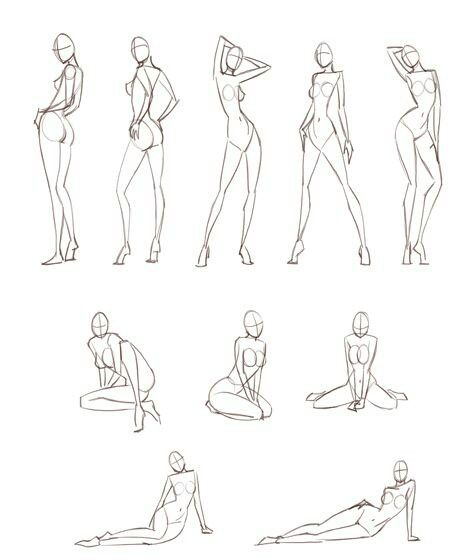 Poses for fashion illustration