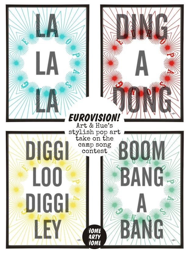 Eurovision!!! #PopArt by @ARTandHUE for your #ESC2015 #Party http://homeartyhome.com/eurovision/
