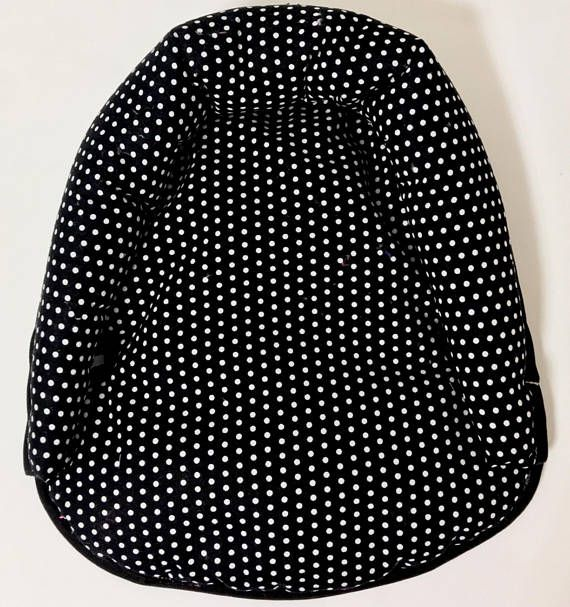 Black with White Polka Dot Head Support, Baby Head Support, Car Seat Infant Head Support, Matching Car Seat Neck Strap Set Optional. Our infant head supports are the perfect little accessory for your newborns car seat! We no offer these little pillows a la carte so if you are not