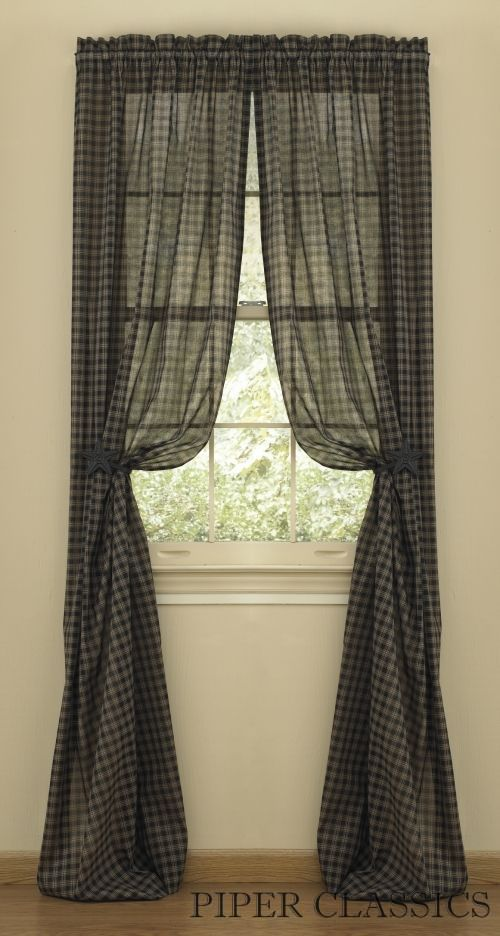 51 best Prim curtains images on Pinterest | Primitive curtains ...
