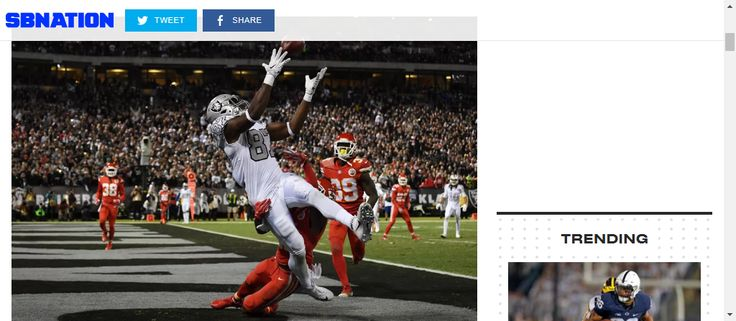 Chiefs vs. Raiders: NFL Week 7 started with a bang - SBNation.com     Third time was the charm, scoring after getting into the endzone 2 times before with penalties. What a comeback!!