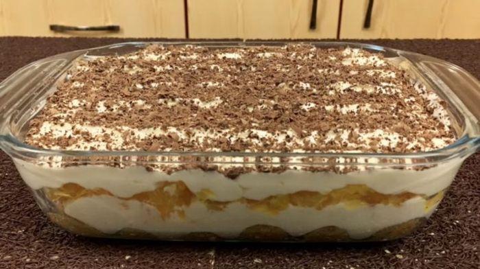 Торт «Тирамису» с апельсинами: быстрый и легкий рецепт