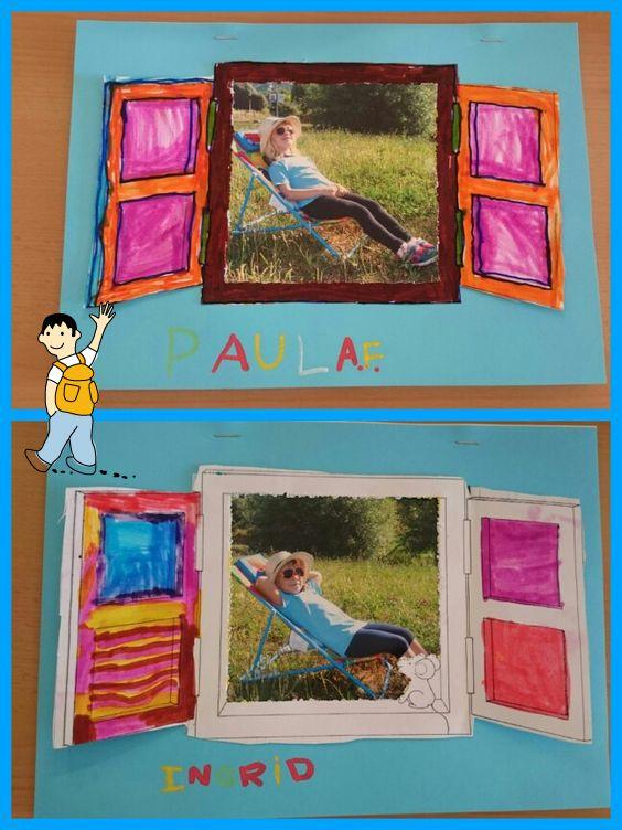 Tapa álbum escolar infantil. Portada trabajos escolares. Tapa original con foto alumnos
