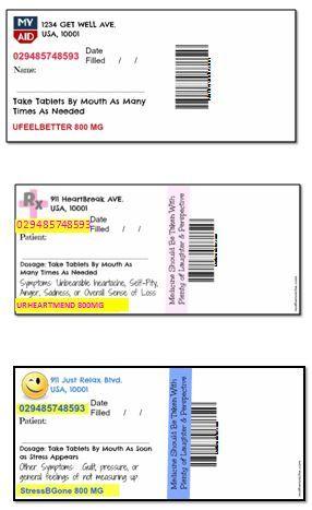 Fake viagra pills gag gift