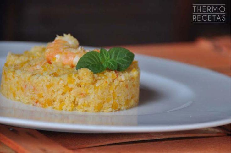 Coliflor con verduras y langostinos - http://www.thermorecetas.com/coliflor-con-verduras-y-langostinos/