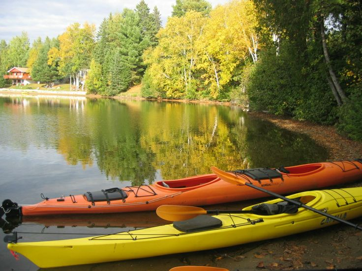 """""""Kakayking on a lake in the fall is the most picturesque, tranquil things to do.  The serenity and sounds are so grounding."""" -Notre Dame de Pomain, Qc"""