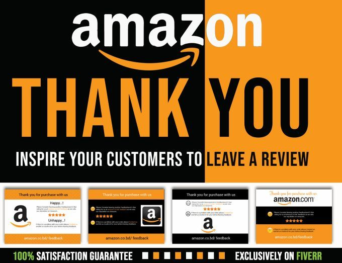 I Will Design Amazon Thank You Card And Product Insert Within 2 Hours Thank You Card Design Business Cards Layout Business Cards Creative