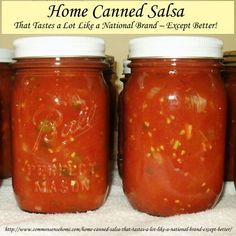 Home canned salsa recipe with fresh tomatoes. Make your own salsa at home with ingredients from your garden or farmer's market.:
