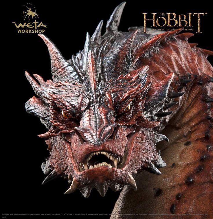 Der Hobbit Smaugs Einöde Büste Smaug 36 cm Der Hobbit - Figuren Smaug - Hadesflamme - Merchandise - Onlineshop für alles was das (Fan) Herz begehrt!