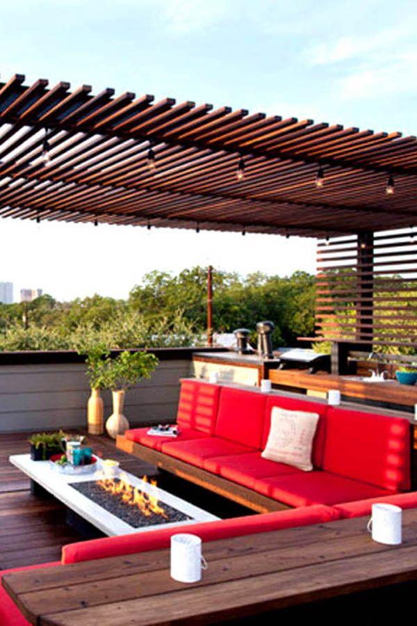 أفضل تصاميم الديكورات الخارجية وديكورات أسطح المنازل وتصميمات مميزة لأثاث الحدائق وأسطح الفلل والمنازل الفخمة ديكور للبلكون Pergola Outdoor Structures Outdoor