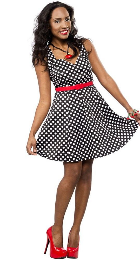 An absolute must-have for any pin up, the Floozy Polka Dot Dress will have you looking like a rockabilly bombshell! #blamebetty #polkabot #pinup