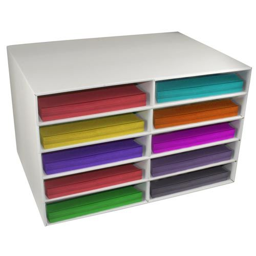 Classroom Keepers - sturdy cardboard storage boxes keep your papers organized!