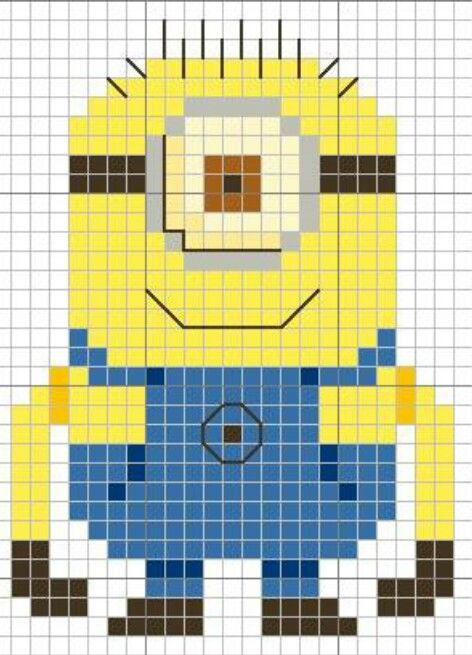 Minion cross stitch chart