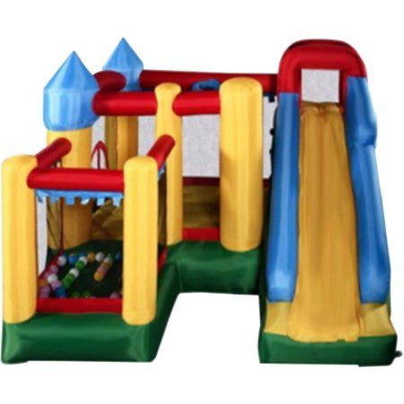 Aleko Bhpool Large Castle Bouncy House Jump and Slide Inflatable Bouncer Playhouse with UL Blower