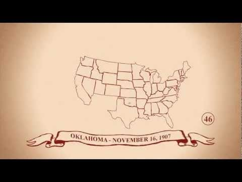 Cool animation of The 50 States in Order of Statehood in 3min 30sec. CC Cycle 3 Geography. w1-10