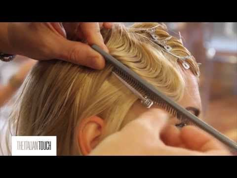 """The Italian Touch"" video shows how to create fingerwaves using just pin curl clips for the front. I substitute ""head organics"" extra hold hair gel for the mousse they used."