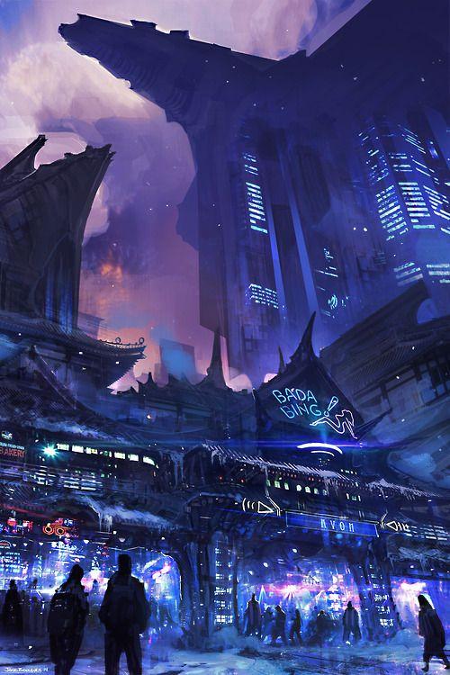 Jose Borges | Sci-Fi futuristic architecture cyberpunk city