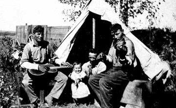 Métis musicians - fiddler; fiddle music