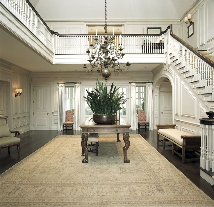 Traditional Eclectic Gold Coast Home  Hamptons, Long Island NY  Entry   Foyer  Staircase  Shingle Style  TraditionalNeoclassical by Brian O'Keefe Architect