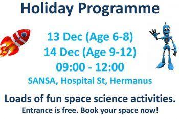 SANSA – Holiday Program for Kids - http://ilovehermanus.co.za/event/sansa-holiday-program-for-kids/